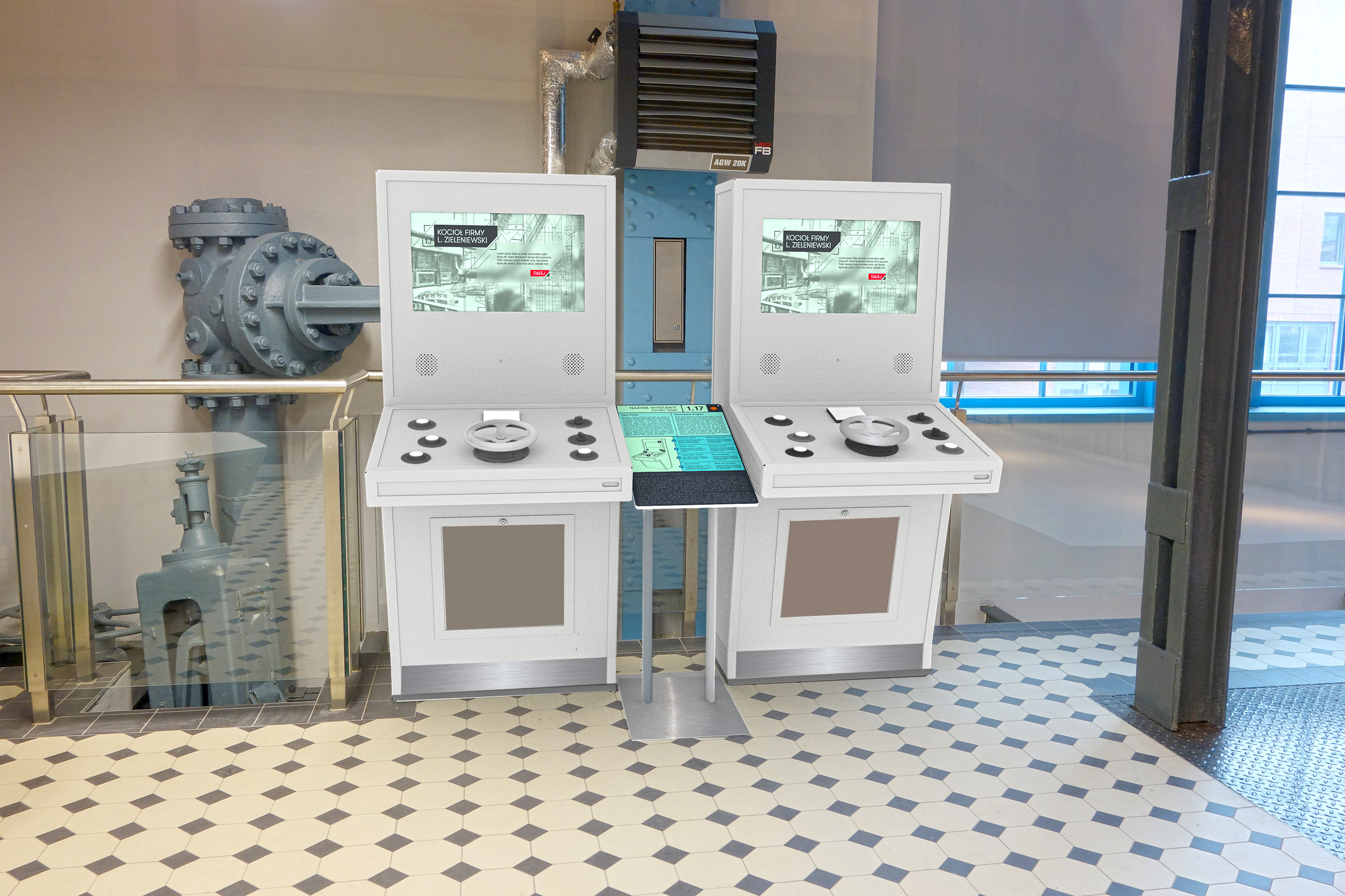 Visualisation of equipment in Science Center